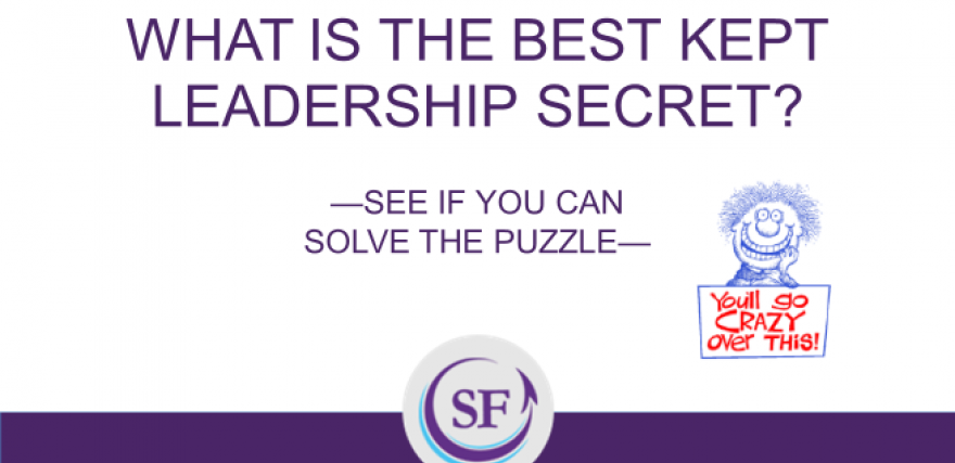 What's the best-kept secret of leadership?