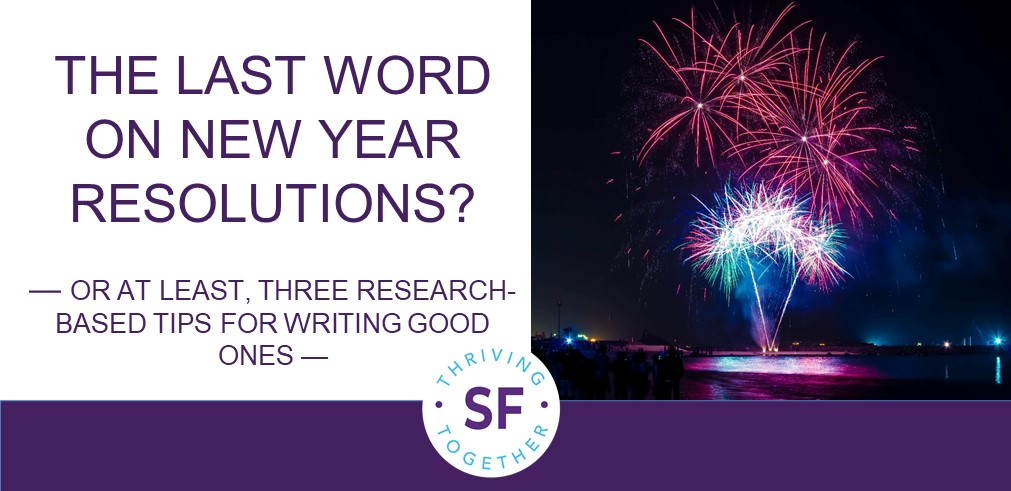 The Final Word on New Year's Resolutions post image